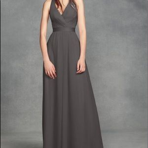Gray David's bridal bridesmaid dress